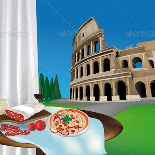 Colosseum and Roman Products