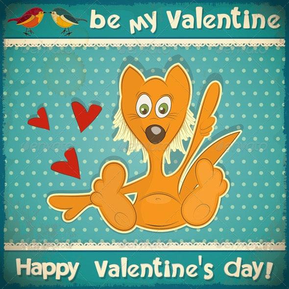 Valentines Day Retro Card - Valentines Seasons/Holidays