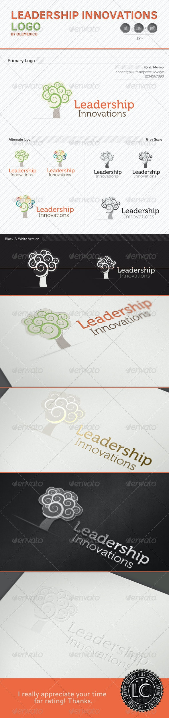 Logo - Leadership Innovation - Nature Logo Templates