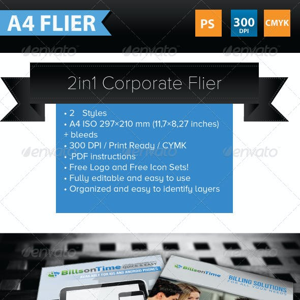 2 in 1 Corporate Flyer Template