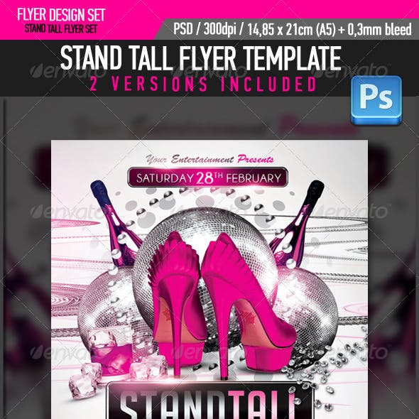 Stand Tall High Heels Party Flyer Template