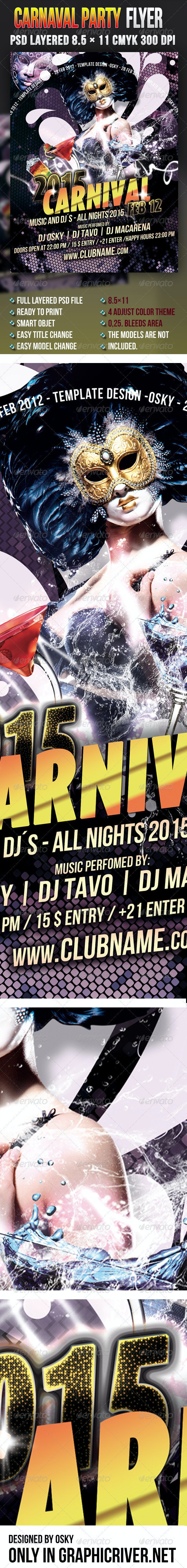 Carnaval Party Flyer - Events Flyers