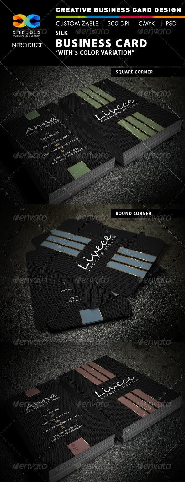 Silk Business Card - Corporate Business Cards