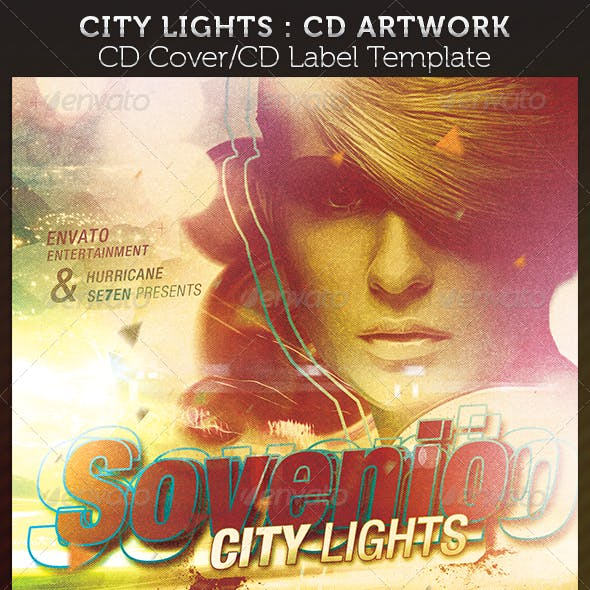 City Lights CD Cover Artwork Template