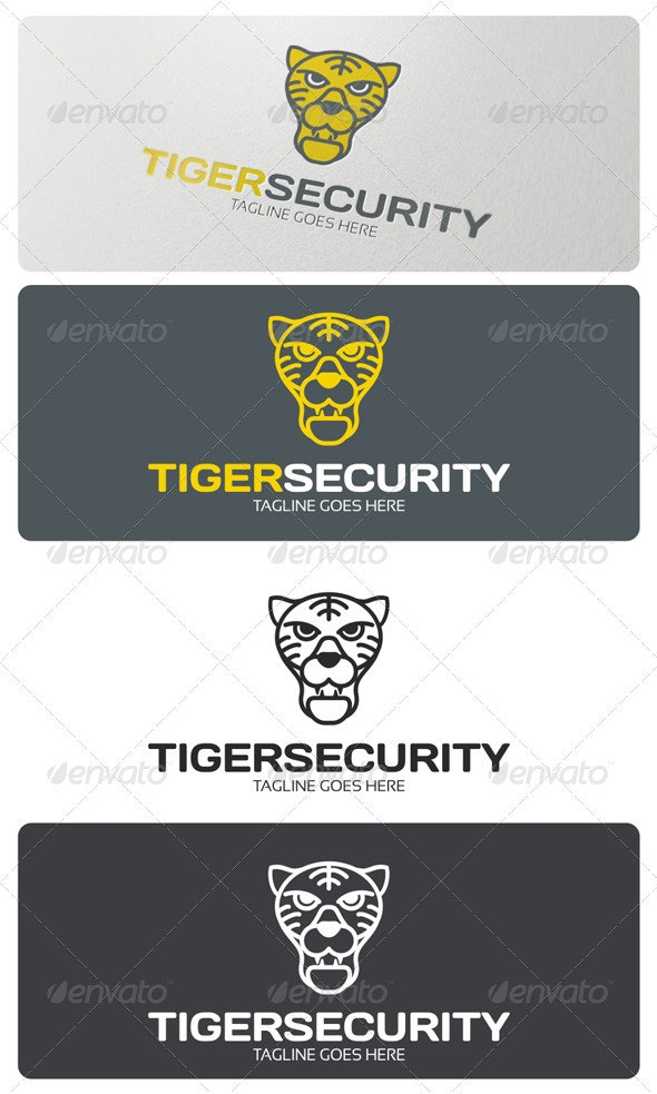Tiger Security Logo Template - Animals Logo Templates