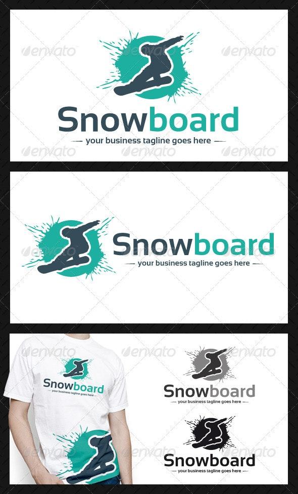 Snowboard Logo Template - Humans Logo Templates