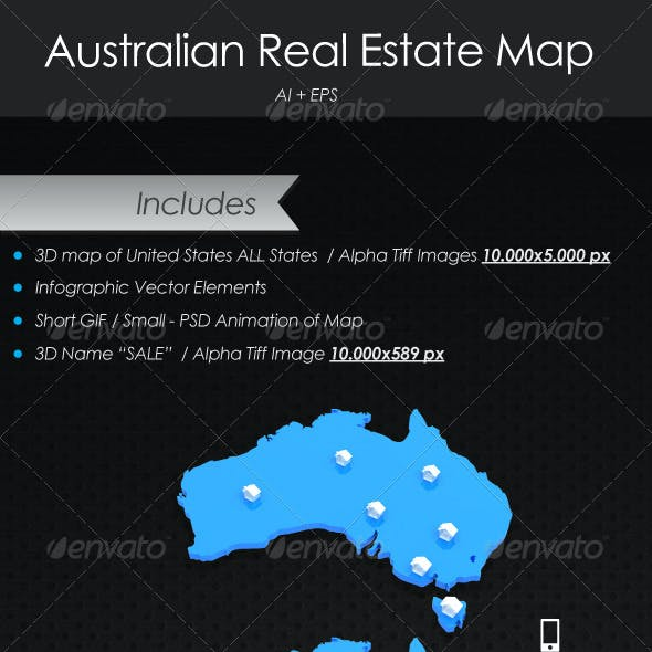 Real Estate Australian Map
