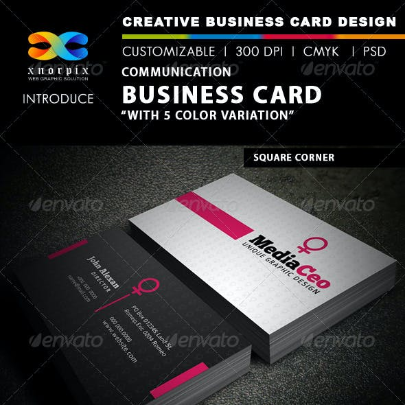 Communication Business Card