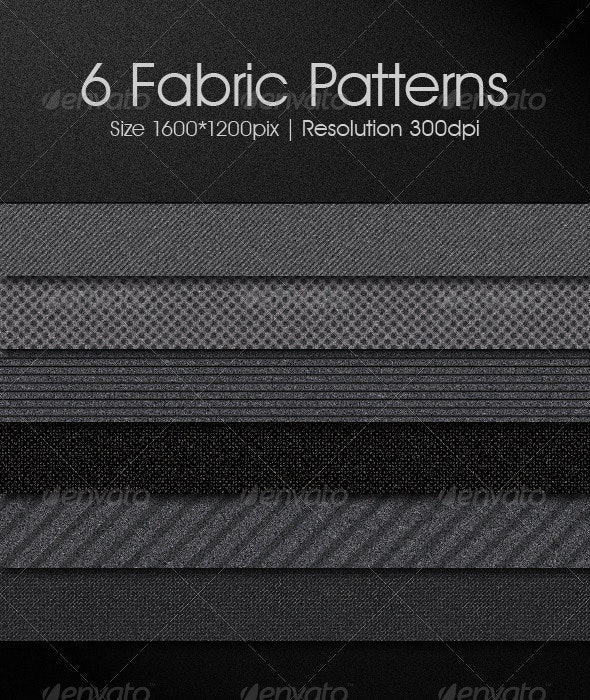 6 Fabric Patterns - Fabric Textures