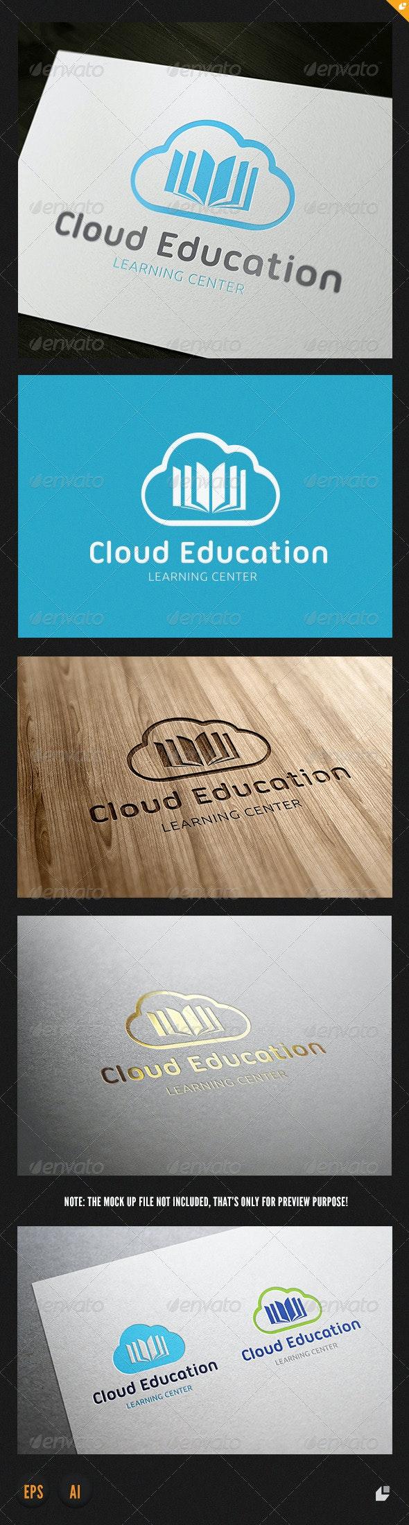 Cloud Education Logo - Objects Logo Templates