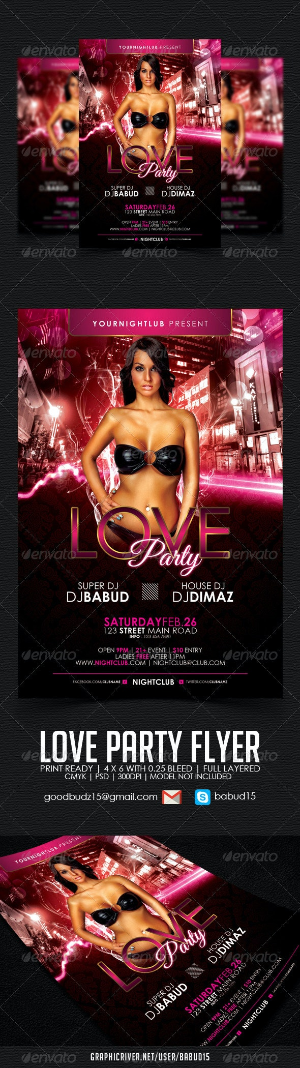 Love Party Flyer Template - Events Flyers