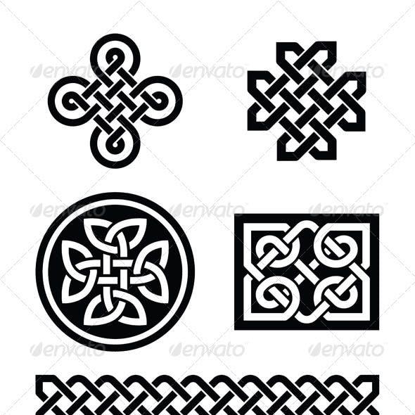 Celtic Knots Patterns - Vector