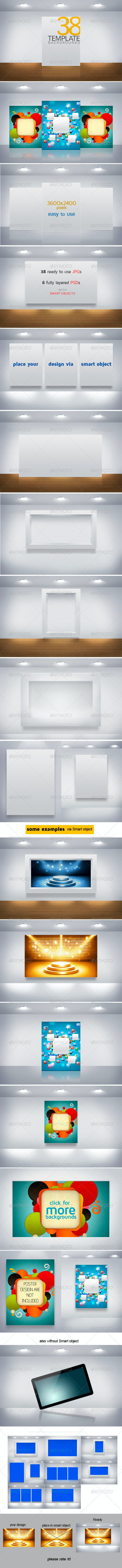 Template Backgrounds - Miscellaneous Photo Templates