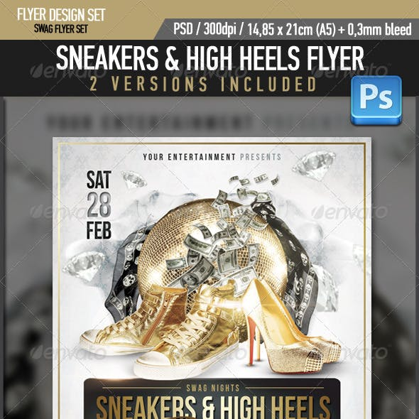 Sneaker High Heels Swag Flyer Template
