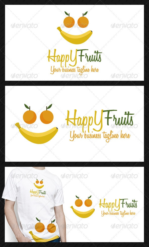 Happy Fruits Logo Template - Objects Logo Templates