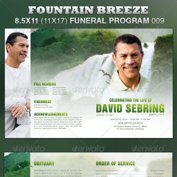 Fountain Breeze Funeral Program Template 009