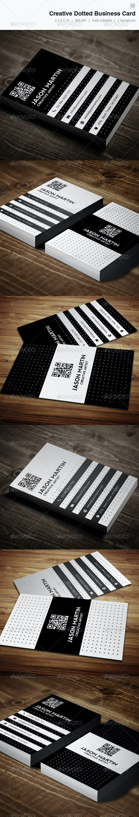 Creative Dotted Business Card - 07 - Creative Business Cards