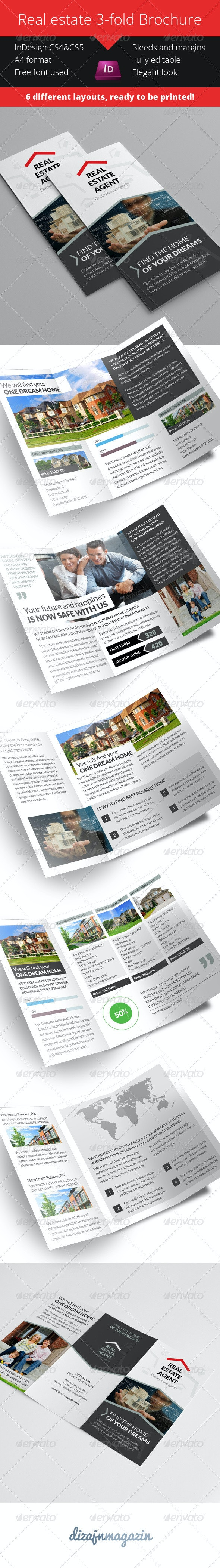 Real Estate 3 Fold Brochure - Product Catalog - Catalogs Brochures