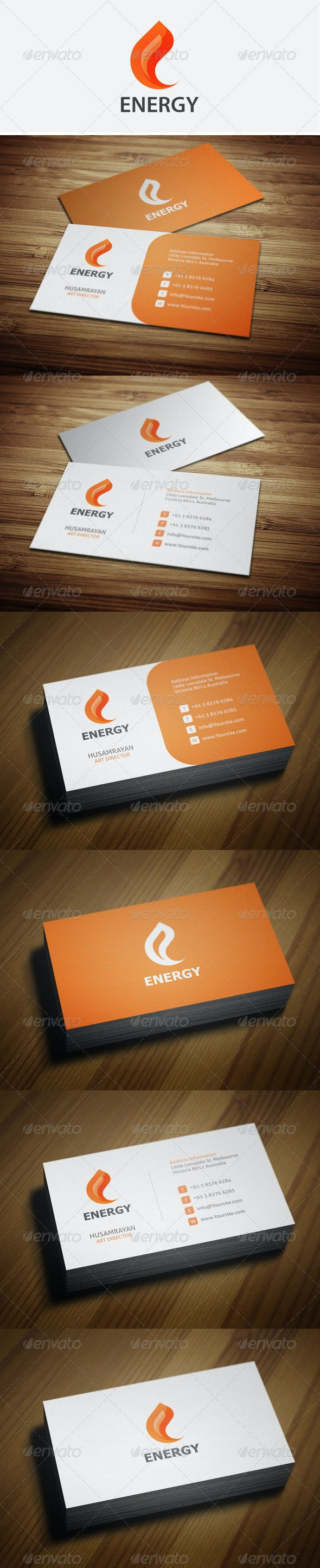 Energy Business Cards - Corporate Business Cards