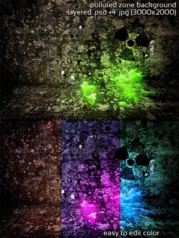 Polluted Zone Background - 3D Backgrounds