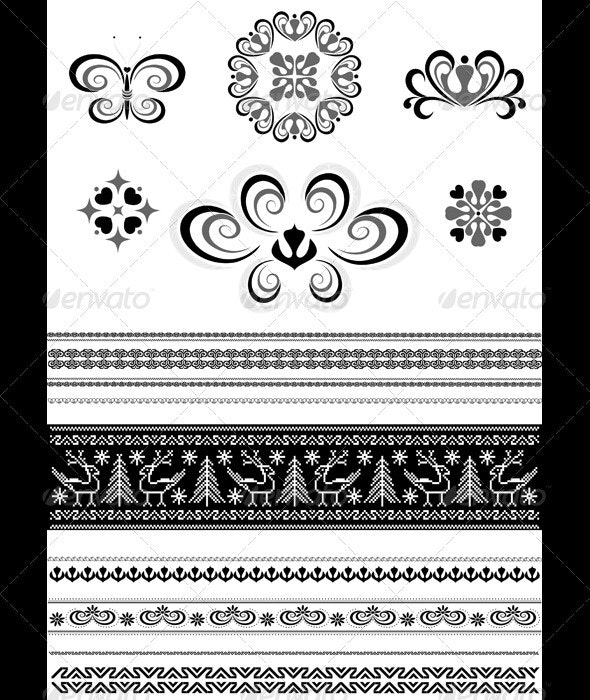 Ornaments and Borders for Page Design - Borders Decorative