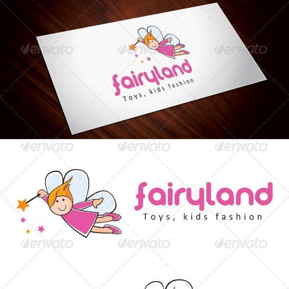 Fairy Land Kids Fashion Logo