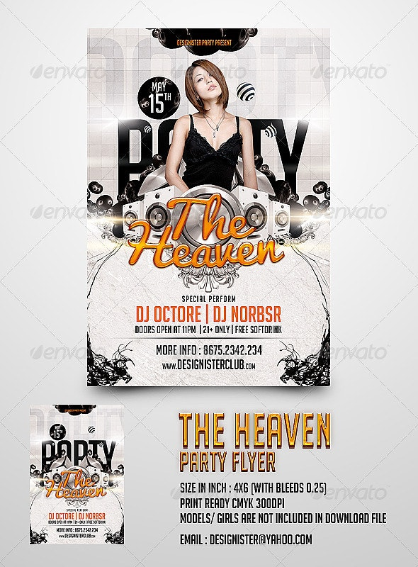 The Heaven Party Flyer - Clubs & Parties Events