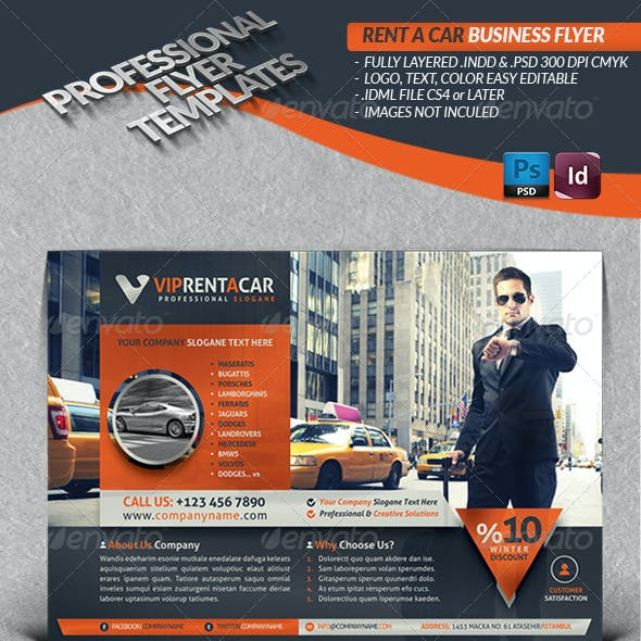 Rent A Car Business Flyer