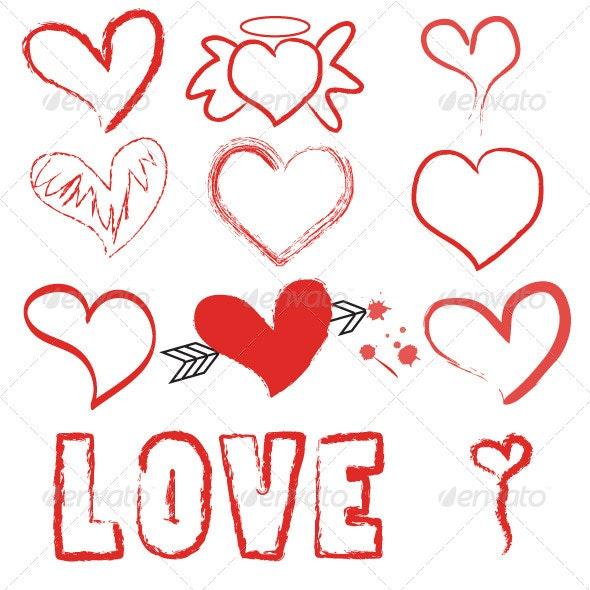 Valentine Vector Set  - Valentines Seasons/Holidays