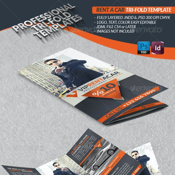 Rent A Car Business Tri-Fold