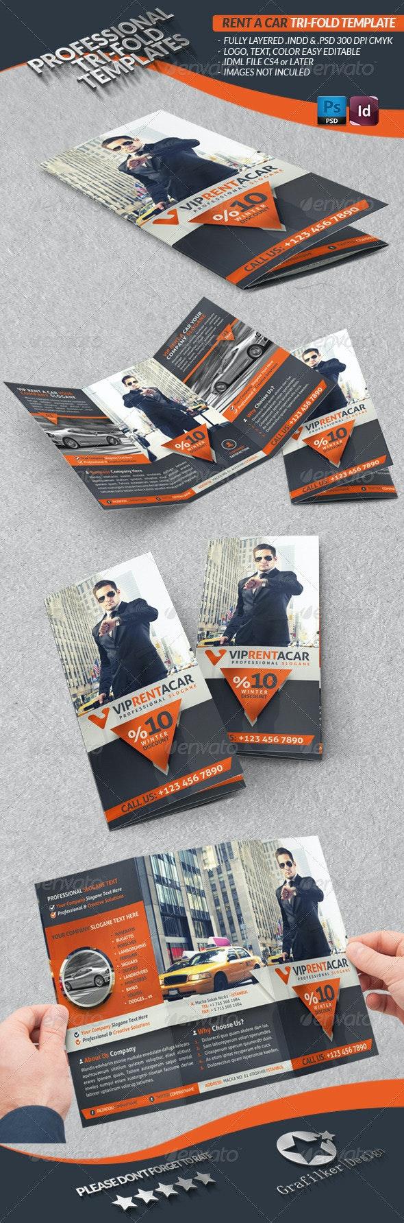 Rent A Car Business Tri-Fold - Corporate Brochures