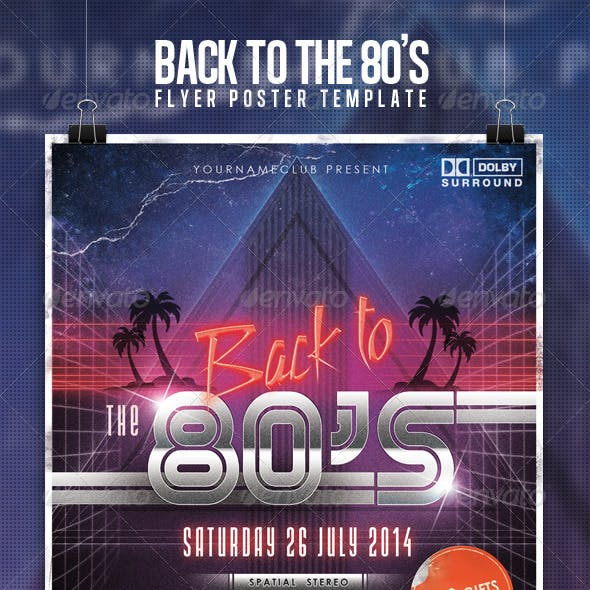 80's 90's Retro Party Flyer Template