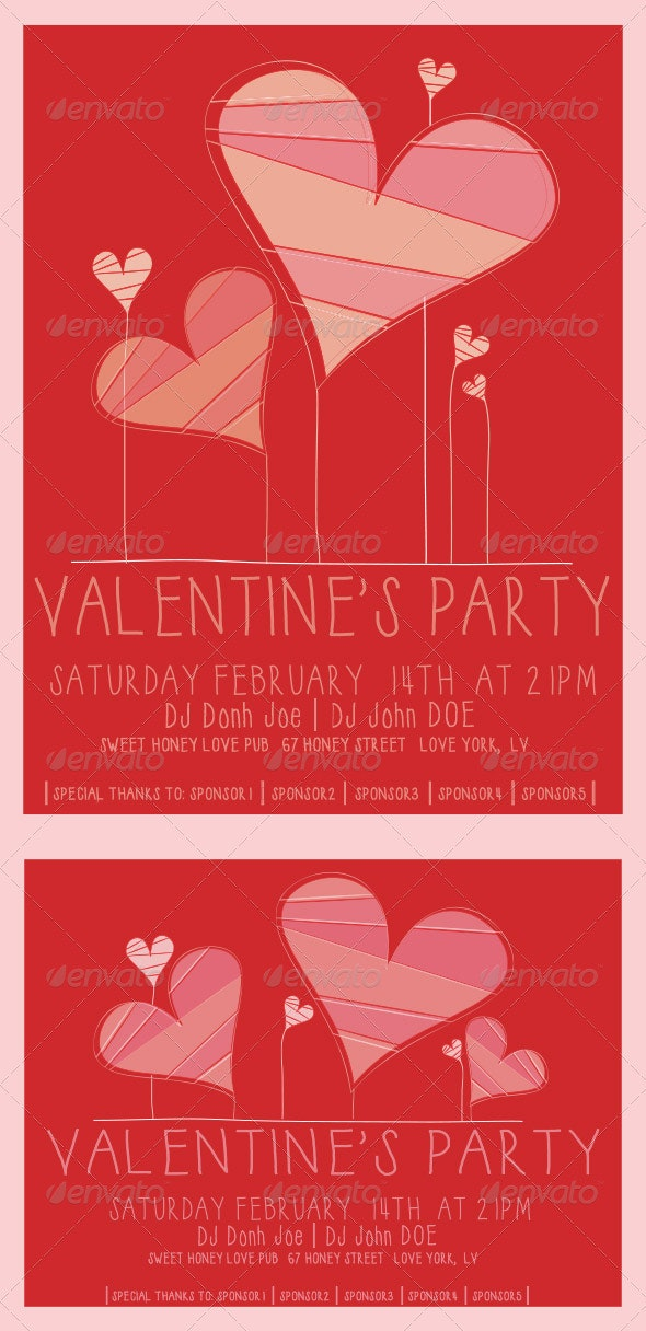 Valentines Flyer Template - Holidays Events