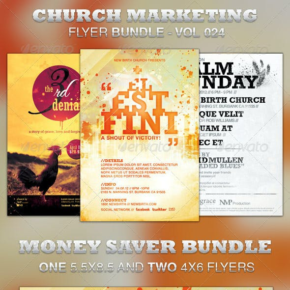 Church Marketing Flyer Bundle-Vol 024