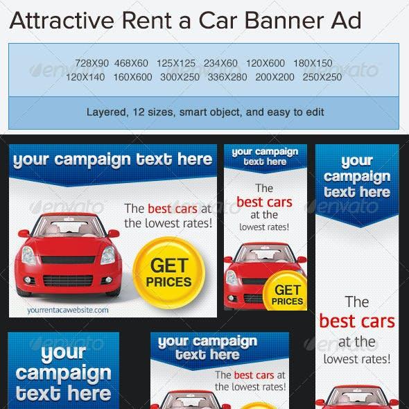 Car Rentals Banner Ad