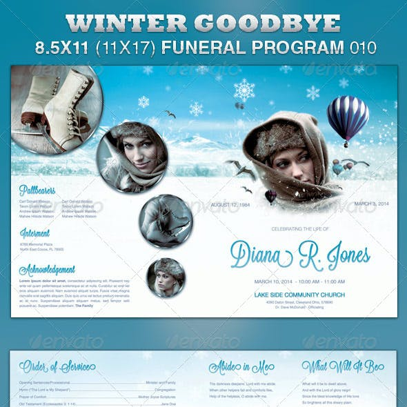 Winter Goodbye Funeral Program Template 010