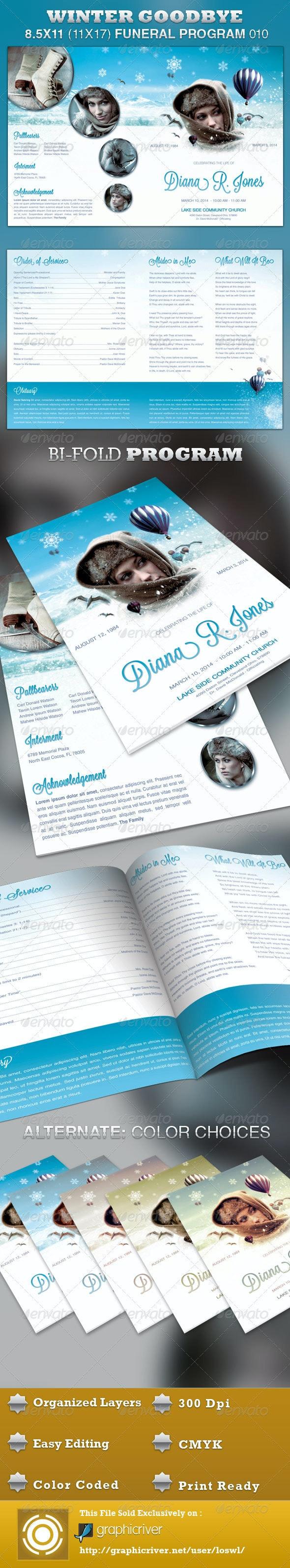 Winter Goodbye Funeral Program Template 010 - Informational Brochures