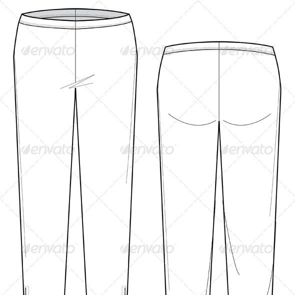 Fashion Flat Sketches for Leather Leggings