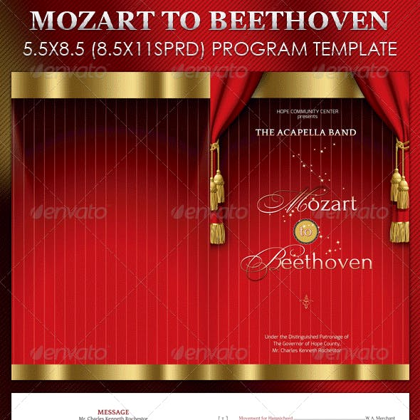 Mozart Beethoven Program Template