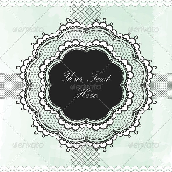 Black Vintage Lace Border - Borders Decorative
