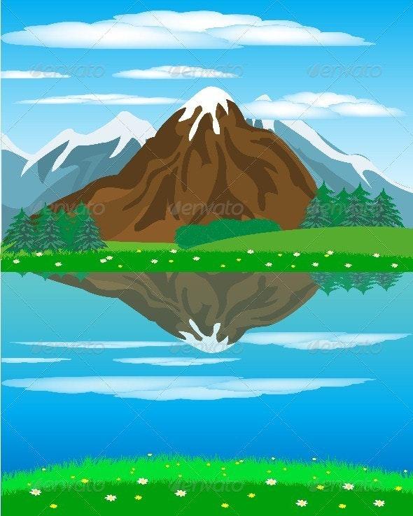 Landscape with mountain oi river - Landscapes Nature
