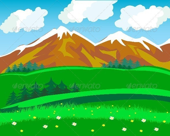 Summer in mountain - Landscapes Nature