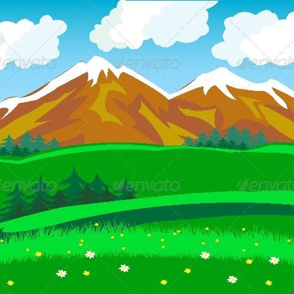 Summer in mountain