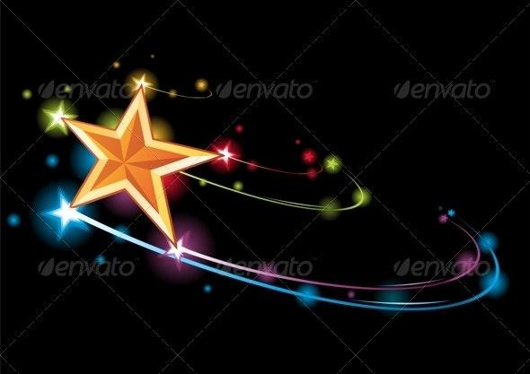 Rainbow star - Decorative Symbols Decorative
