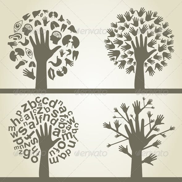 Hand a tree4