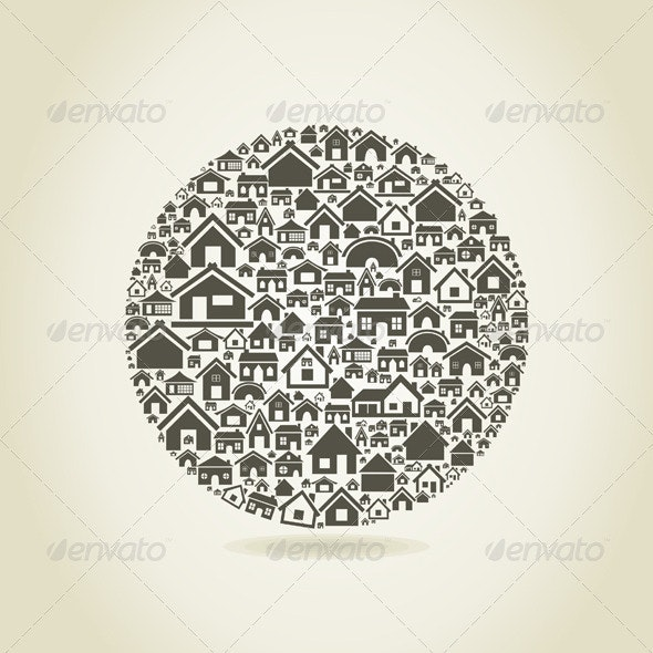 House a sphere - Buildings Objects