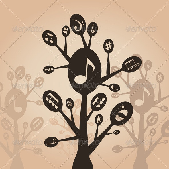 Musical spoon - Miscellaneous Vectors