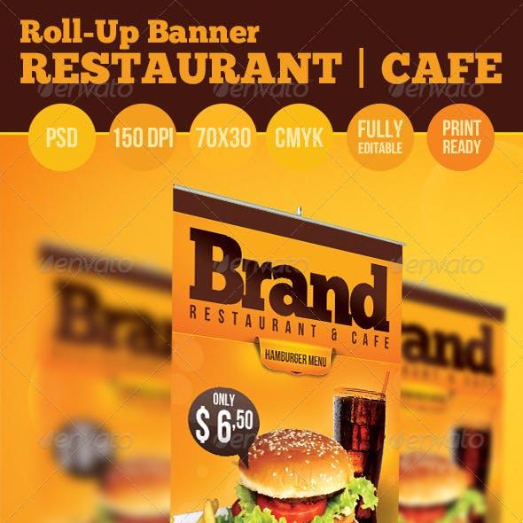Restaurant | Cafe Roll Up Banner