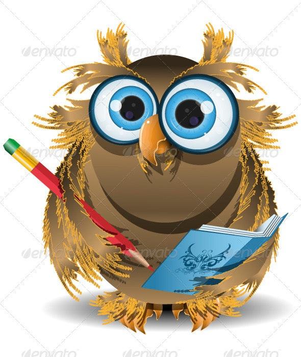 owl secretary - Animals Characters