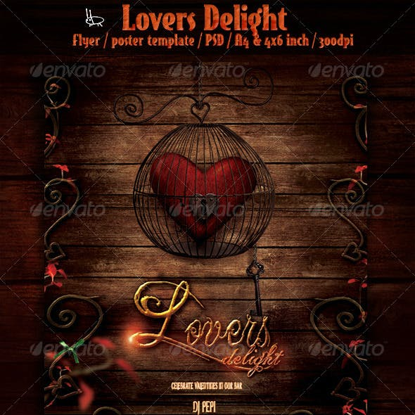 Lovers Delight - Valentines Event Flyer/Poster